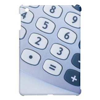 close-up of calculator buttons case for the iPad mini