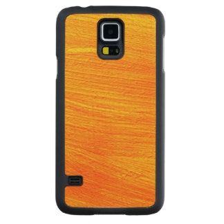Close-up of canvas painting carved maple galaxy s5 case