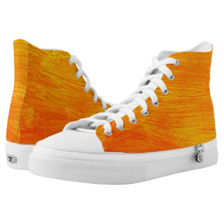 Close-up of canvas painting high tops
