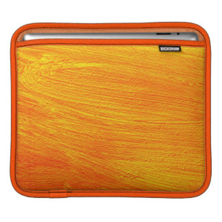 Close-up of canvas painting iPad sleeve