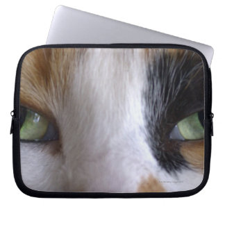 Close-up of cat's eyes laptop sleeve