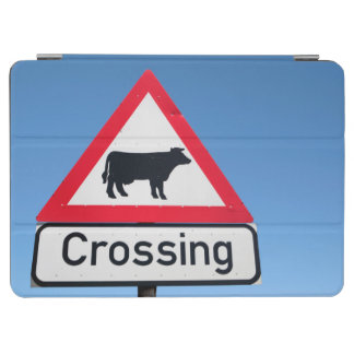 Close-Up Of Cattle Crossing Sign. Western Cape iPad Air Cover