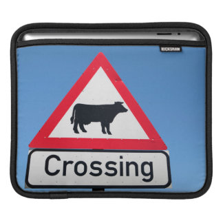 Close-Up Of Cattle Crossing Sign. Western Cape iPad Sleeve