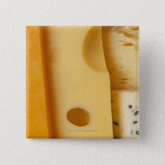 Close-up of cheese slices 15 cm square badge
