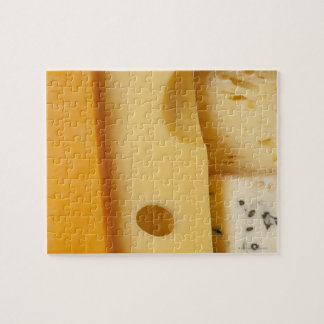 Close-up of cheese slices jigsaw puzzle