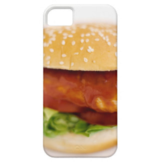 Close-up of chicken burger case for the iPhone 5
