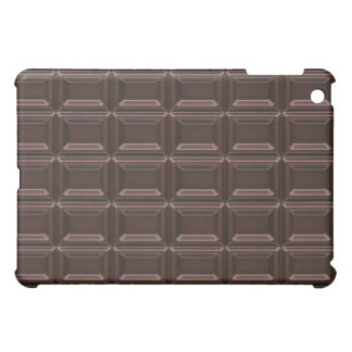 Close-up of chocolate bar cover for the iPad mini