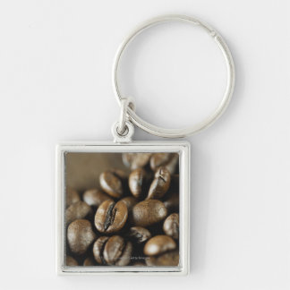 Close-up of coffee beans key ring