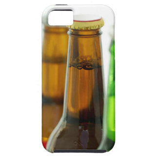 close-up of colored bottles of beer case for the iPhone 5