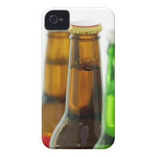 close-up of colored bottles of beer iPhone 4 case