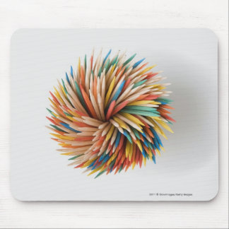 Close-up of colored pencils mouse pad