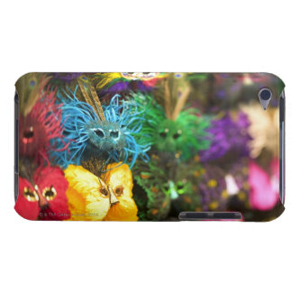 Close-up of colorful miniature masks in a New iPod Touch Covers
