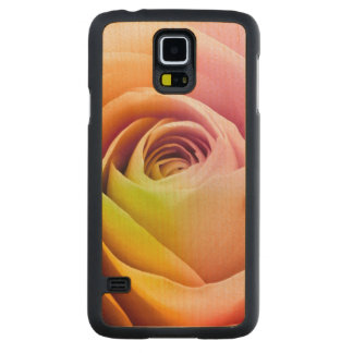 Close up of Colorful Rose Petals Maple Galaxy S5 Case
