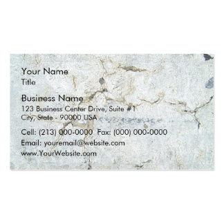 Close-up of cracked concrete wall pack of standard business cards
