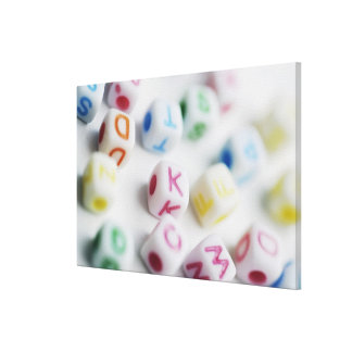 Close-up of cubes canvas print