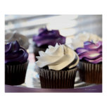 Close-up of cupcakes with selective focus on