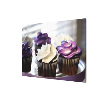 Close-up of cupcakes with selective focus on canvas print