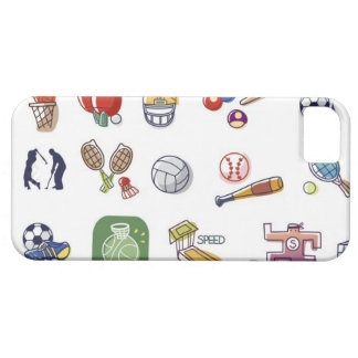 Close-up of different type of sports equipments barely there iPhone 5 case