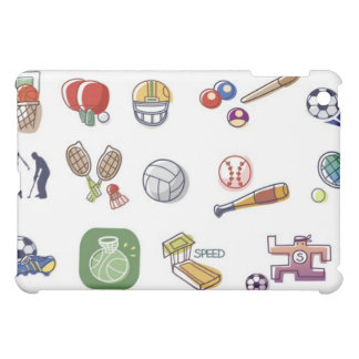 Close-up of different type of sports equipments iPad mini covers