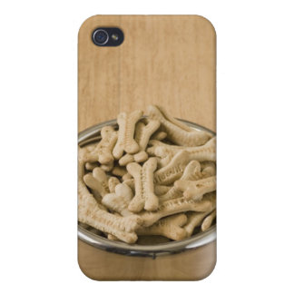 Close-up of dog biscuits in a dog bowl case for iPhone 4