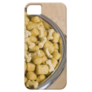 Close-up of dog food in a dog bowl iPhone 5 cases
