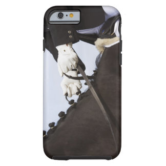 close-up of dressage horse with rider tough iPhone 6 case