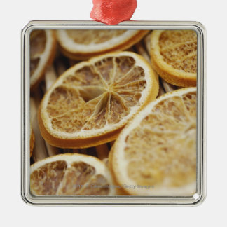 Close-up of dried slices of lemon christmas ornament