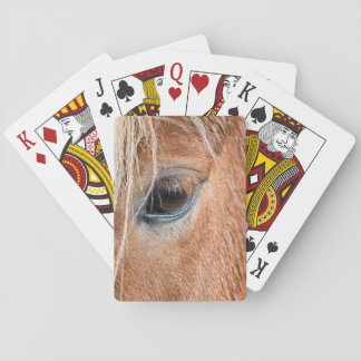 Close-up of eye and head of Icelandic horse Poker Deck