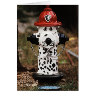 Close-Up of Fire Hydrant Card