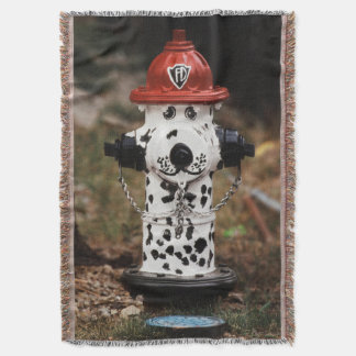 Close-Up of Fire Hydrant Throw Blanket