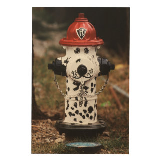 Close-Up of Fire Hydrant Wood Wall Art