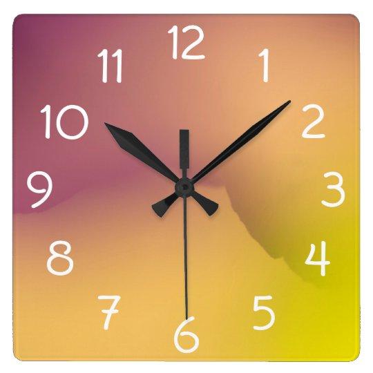 Close-up of flower petals square wall clock