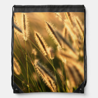 Close-Up Of Foxtail Grass. Hogsback Drawstring Bag