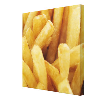 Close-up of French fries Stretched Canvas Print
