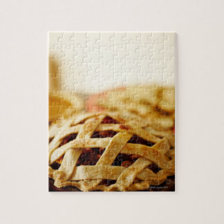 Close-up of fresh pie with lattice pattern crust jigsaw puzzle