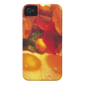 close-up of fried eggs with french fries iPhone 4 cover