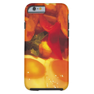 close-up of fried eggs with french fries tough iPhone 6 case
