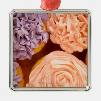 Close-up of frosted cupcakes christmas ornament