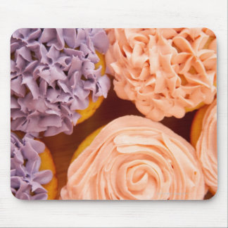 Close-up of frosted cupcakes mouse mat