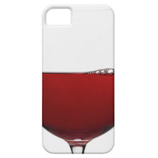 Close up of glass of red wine on white barely there iPhone 5 case
