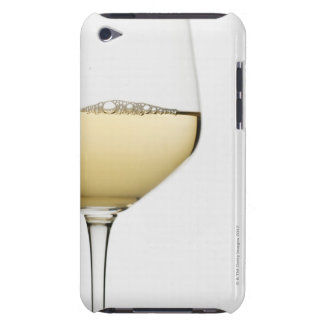 Close up of glass of white wine on white iPod touch Case-Mate case