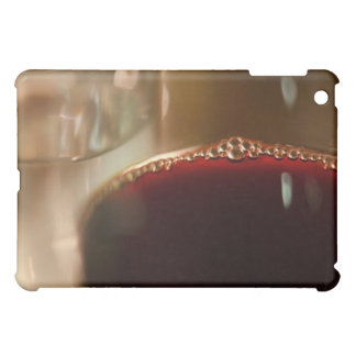 Close-up of glass with red wine iPad mini covers