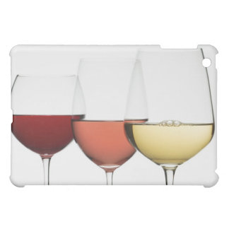 Close up of glasses of different wines case for the iPad mini