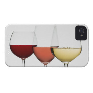Close up of glasses of different wines Case-Mate iPhone 4 case