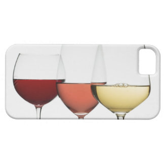 Close up of glasses of different wines iPhone 5 case