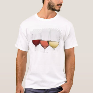 Close up of glasses of different wines T-Shirt