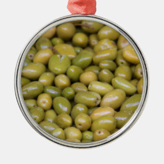 Close Up Of Green Olives Christmas Ornament