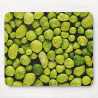 Close-up of green pebbles mouse mat