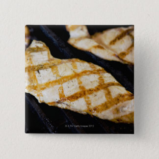 Close-up of grilled chicken breasts 15 cm square badge