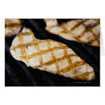 Close-up of grilled chicken breasts greeting cards